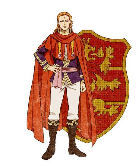 Fuegoleon Vermilion, captain of the Crimson Lion squad Visual