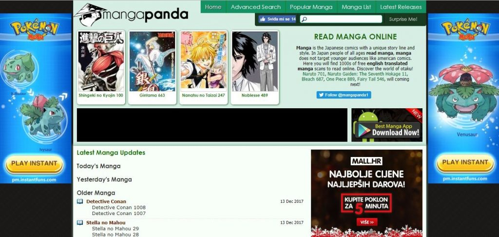MangaPanda - Top Free Manga Sites