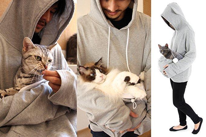Cat pouch sweatshirt