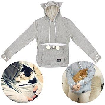 Cat holder hoodie