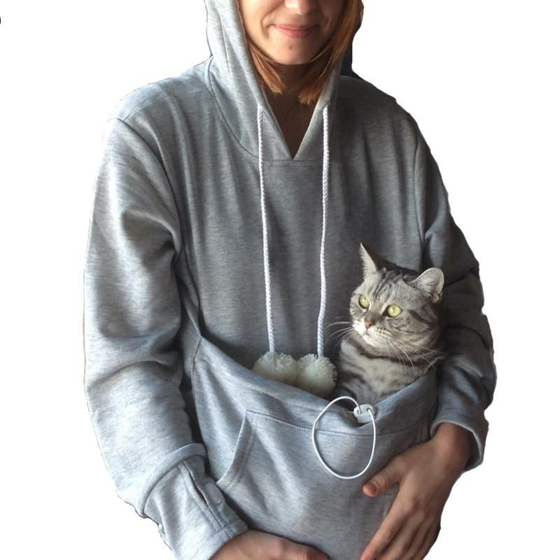 Cat holder sweatshirt