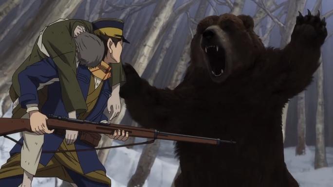 Bear Scene Golden Kamuy Episode 1
