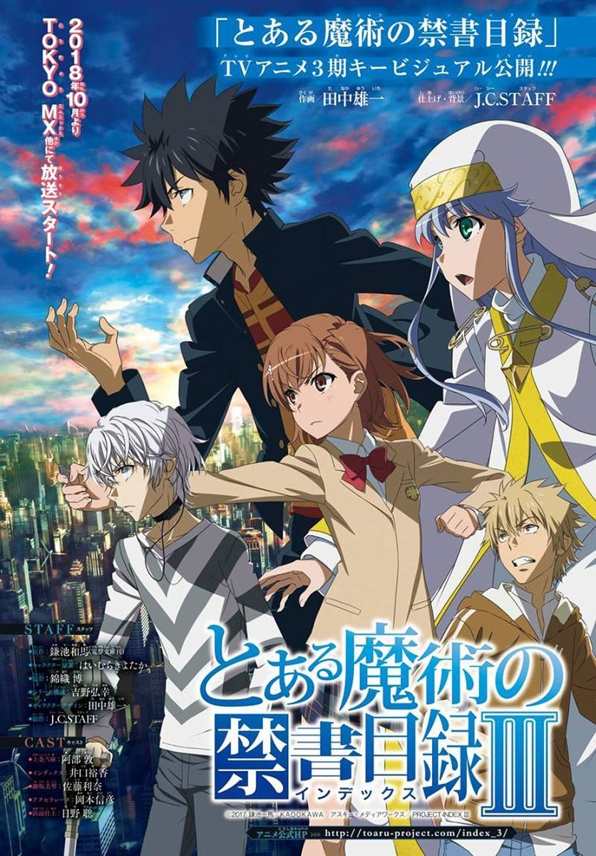 A Certain Magical Index Season 3 Visual