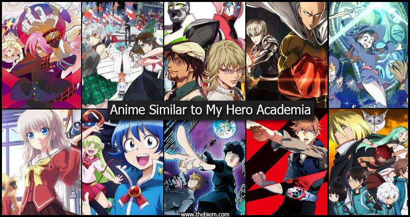 Anime Similar to My Hero Academia