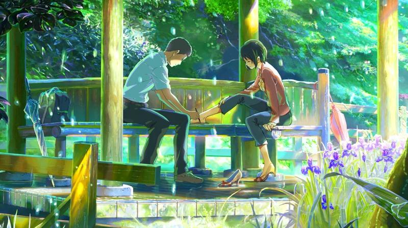 garden of words - sad anime