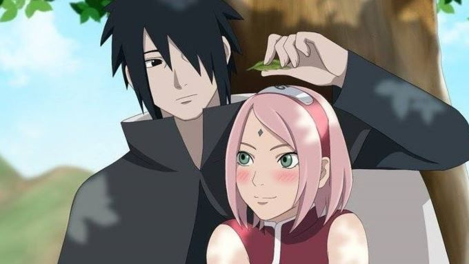 cutest anime couples - sasuke and saukra