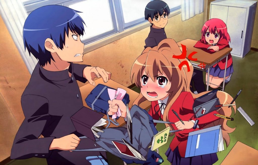 toradora - best anime on netflix