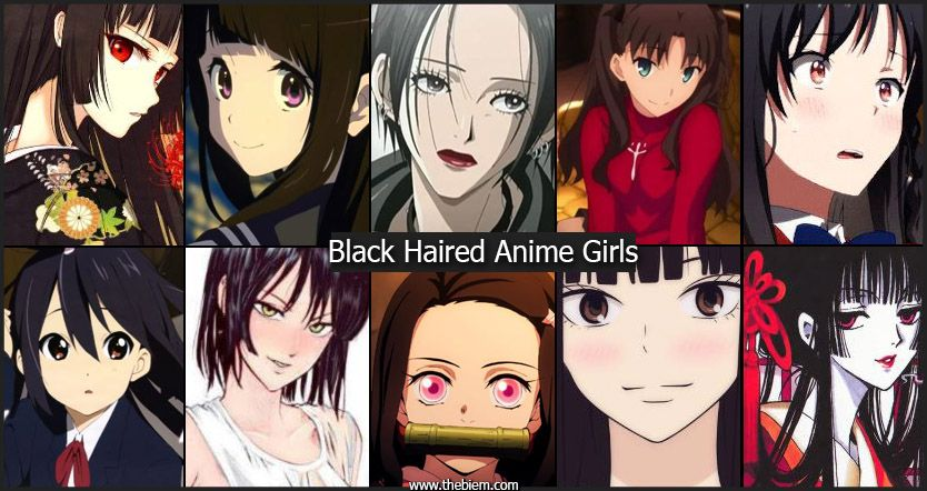 Black Haired Anime Girls
