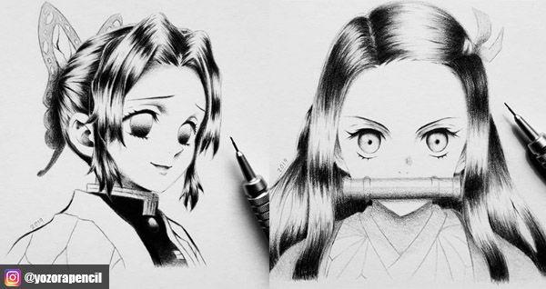 Demon slayer fanarts by yozora pencil